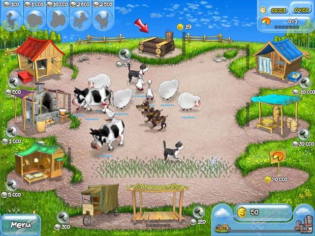 variedad de animales de granja diferentes productos de granja para
