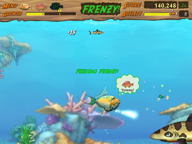 Feeding frenzy 2 free online games for Fish frenzy game