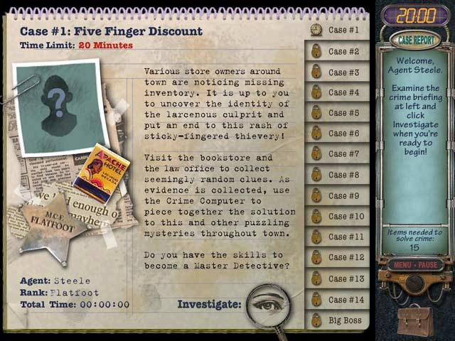 mystery puzzles online